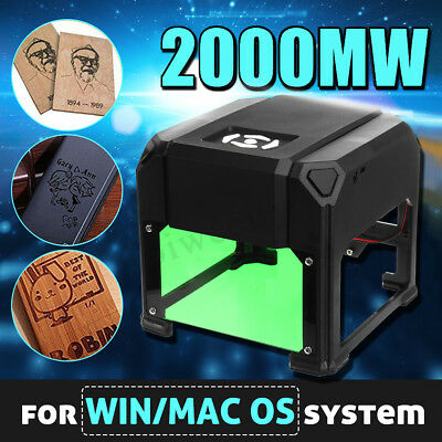 2000mW USB Laser Engraver Printer Cutter Carver DIY Logo Engraving Machine
