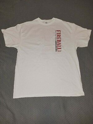 "Fireball XL White T Shirt ""Red Hot"", NEW!!"