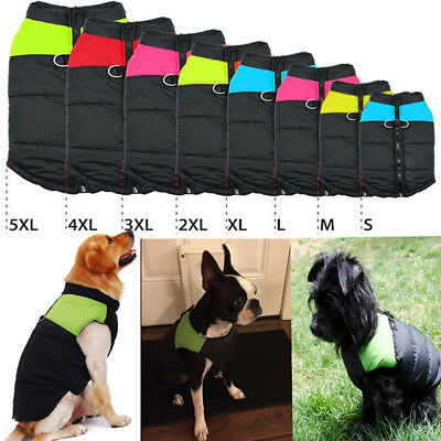 Dogs Pet Warm Insulated Padded Coat Winter Puffer Jacket Clothes Apparel Costume