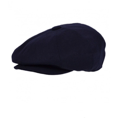 a595fa14 Classic G&H Navy Wool Blend Bakerboy Newsboy 8 Panel Cap Peaky Blinders Hat