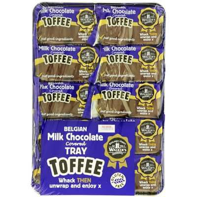 903962 10 x 100g PACKETS OF WALKER'S MILK CHOCOLATE WRAPPED BRITISH TOFFEE!