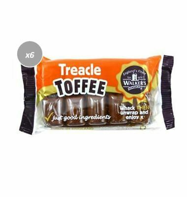903964 6 x 100g PACKETS OF WALKER'S TREACLE PREMIUM WRAPPED BRITISH TOFFEE