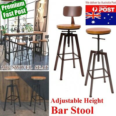 2 Type Industrial Vintage Retro Rustic Bar Stool Barstool Dining Chair Kitchen