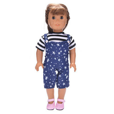 Doll Clothes Dress Outfits Pajames For 18 inch American Girl Star Pants v