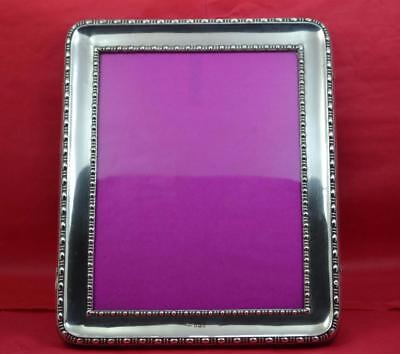 "Large sterling Silver photograph Frame 10 "" x 8 "" J.D & W.D  Sheffield 1912"