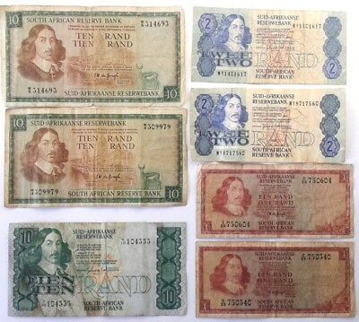 South Africa Replacement Banknotes x 7