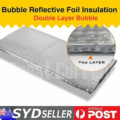 Heat Barrier Aluminum Insulation Double Bubble Shield Shed Loft Garage 1.2 x 12M