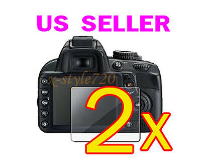 2x Nikon D5100 Clear LCD Screen Protector Guard Cover Film