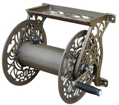 Liberty Garden Products 704 Decorative Cast Aluminum Wall Mount Hose Reel, Holds