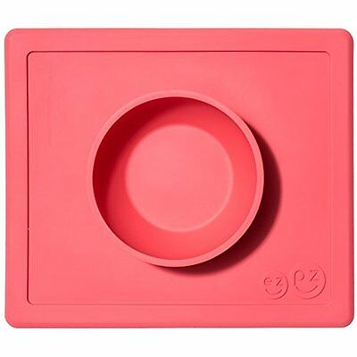 Ezpz Happy Bowl - One-piece Silicone Placemat + Bowl (Coral)