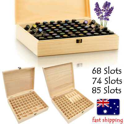 68-85 Slots Aroma Oil Essential Storage Wooden Container Box Case Organizer Bag