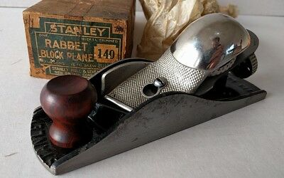 Revised price. Stanley block plane no. 140 near mint in box sweetheart