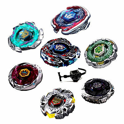 Rare 4D Beyblade Fusion Metal Rapidity Fight Master Top & Launcher Grip Set Toys