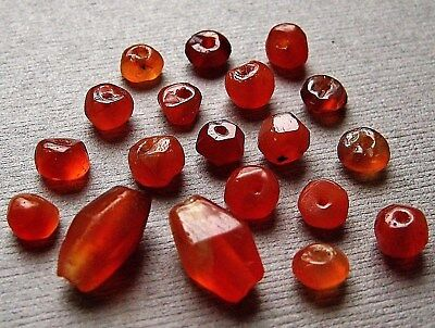 Set Of 19 Ancient Roman Carnelian Beads