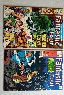 Marvel Fantastic Four comics.x4. 1969-71. Fine+/7.0.