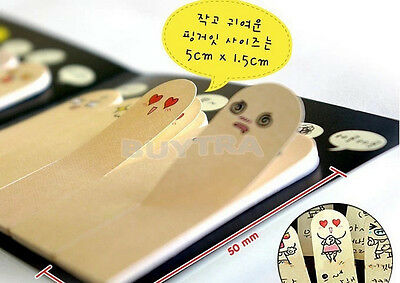 Pop Special 200 pages Adhesive Paper Cute Fingers Sticker Bookmark Memo Viscid、