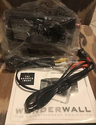 New Never Used The Sharper Image Wonderwall Entertainment Projector