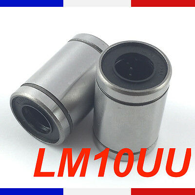 Roulement lineaire LM10UU 10mm Linear Ball Bearing imprimante 3D France Lm10 uu