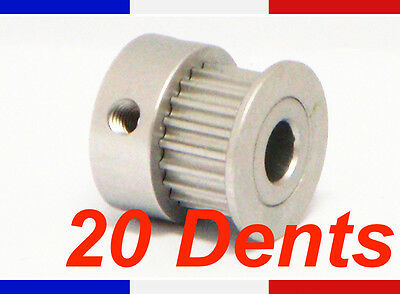 Poulie GT2 - 20 dents - largeur courroie 6mm - axe 5 mm imprimante 3D Reprap
