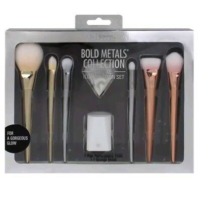 NEW Real Techniques Bold Metals Brush Set 2017 Edition * Ideal Christmas Gift *