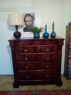 Late 18Th Century Chest Of Drawers 6 Drawers Mahogany