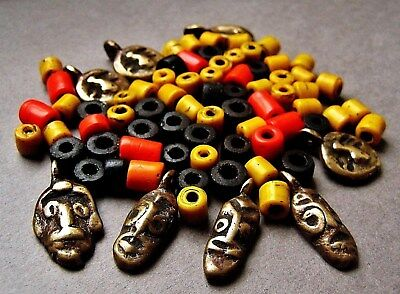 Set Of Spare Old Naga Beads & Pendants