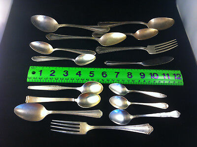 Vintage Silver-Plated Assorted Flatware - Lot of 15