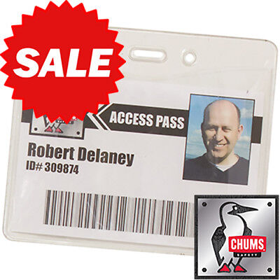 Horizontal Clear Vinyl Sleeve for ID Badges - FREE SHIPPING