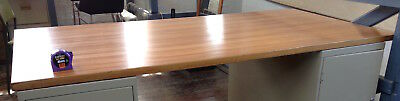 Large retro timber office desk TOP ONLY