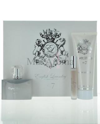 No 7 By English Laundry 3 Piece  Gift Set 3.4 Oz and 6.8 Lotion and Mini