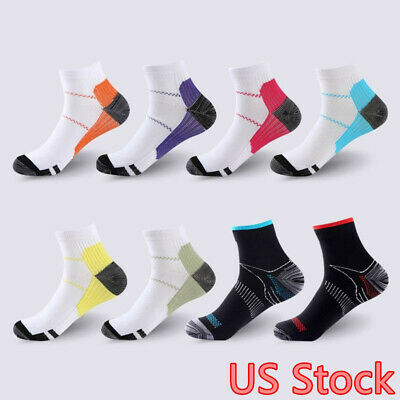 Compression Socks Plantar Fasciitis Arch Ankle Running Support Mens Womens S-XL