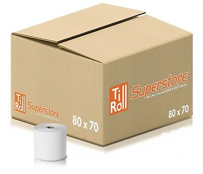 20 Rolls 80x70 (80x80 fit) Thermal Till Roll For EPOS Terminals | FAST N FREE
