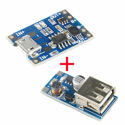 18650 Polymer Battery Charging Protection + USB Step Up Board Power Band DIY