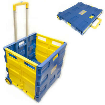 Extra Strong Large 35Kg Folding Shopping Cart Trolley Foldable Crate Storage