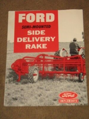 Vintage 1959 Ford Tractor Side Delivery Rake Dealer Brochure