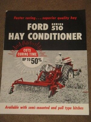 Vintage 1960 Ford Tractor Series 510 Hay Conditioner Dealer Brochure