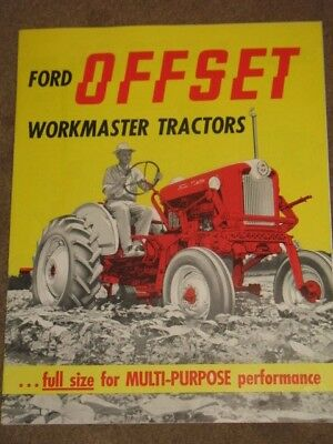 Vintage 1959 Ford Offset Workmaster Tractor Dealer Brochure