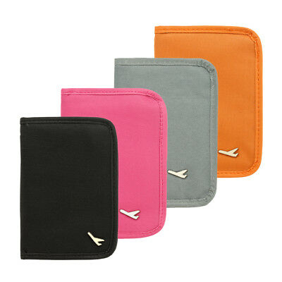 Travel Passport ID Card Cover Holder Case Faux Leather Protector Card Organizer