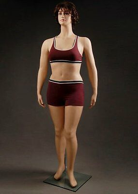 Realistic Female Mannequin, Includes Wig, Large size, Made of Fiberglass (w1)