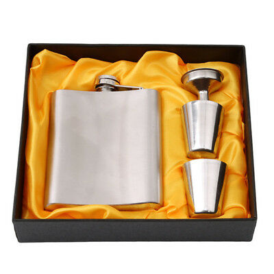 Flask Set Portable Durable Stainless Steel Hip Solution Container Xmas Gifts New