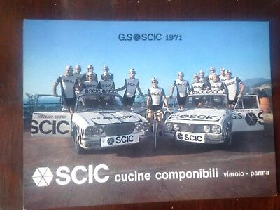 CYCLING - SCIC 1971 cartolina originale squadra 1971