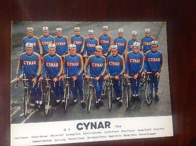 CYCLING - CYNAR  1964  cartolina originale squadra