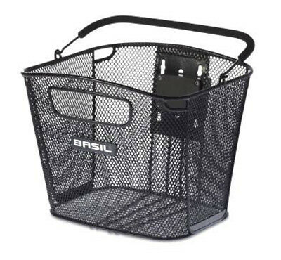 Basil Bold Steel Wire Removable Front Bicycle Basket Black
