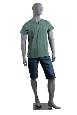 Abstract Male Mannequin, Matte Grey, angel Style, Made of Fiberglass (lee3)