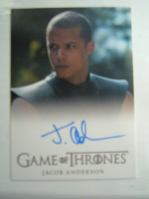 Game of thrones season 4 Jacob Anderson Grey Worm Autograph Auto Card