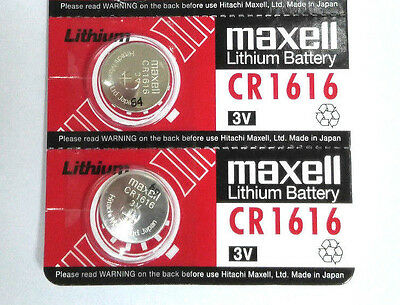 Japan made Maxell CR1616 1616 3V cell coin button battery for calculator x2 pcs