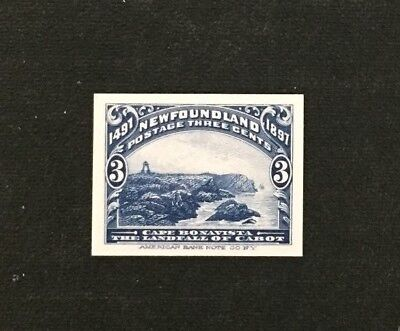 Newfoundland Stamp #63P Proof on Card MNH