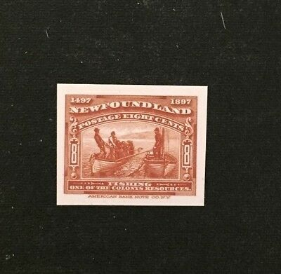 Newfoundland Stamp #67P Proof on Card MNH