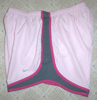 Womens NIKE DRI-FIT Pink Athletic Shorts w/ Liner Running Soccer Workout Large L