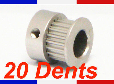 Poulie GT2 - 20 dents - largeur courroie 6mm - axe 8 mm imprimante 3D Reprap